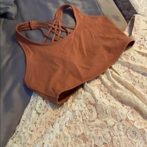 Lace Skirt and Crop Detail Tank Set